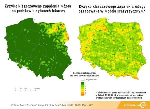 Występowanie KZM w Polsce